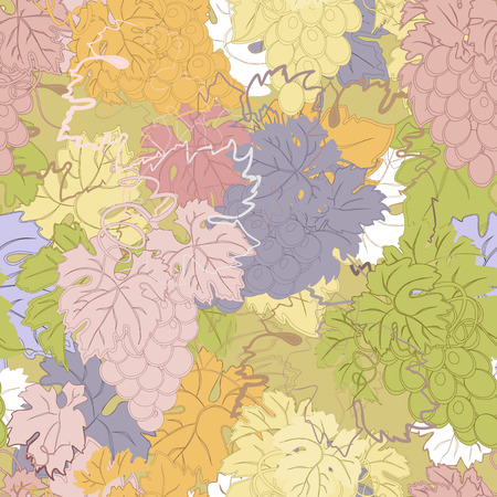 repeat pattern: repeating pattern with grapes abstract colors. Illustration