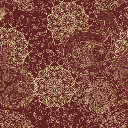 paisley pattern: Seamless pattern in ethnic traditional style.