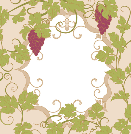 bunch: Background for your text with vines in vintage style.