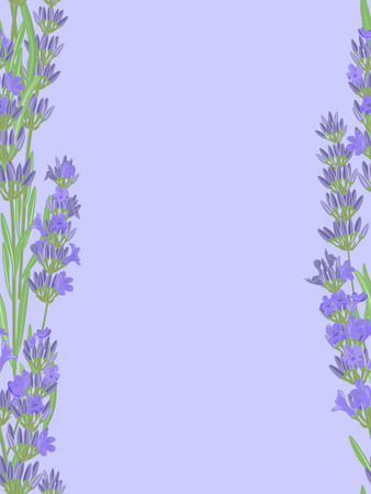 fragrant bouquet: Seamless pattern with lavender flowers.
