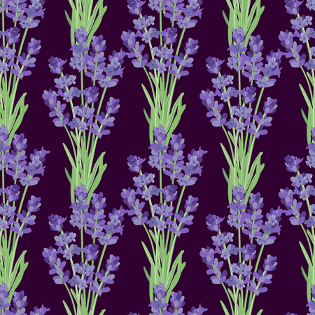 springtime: Seamless pattern with lavender flowers.