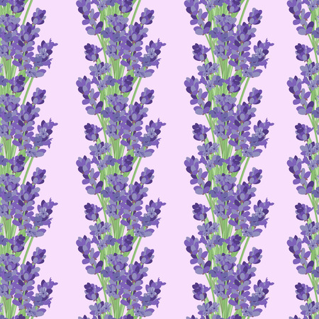 Bright seamless background with sprigs of lavender