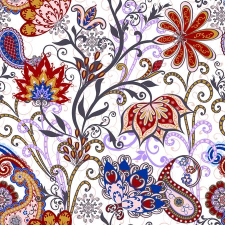 textil: Patrón sin fisuras en el estilo tradicional étnica. Vectores