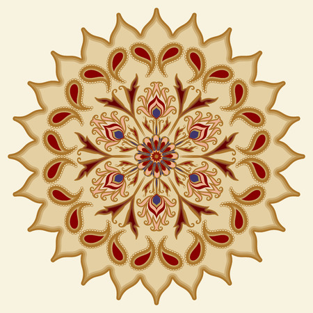 mandala: Decorative floral ornament in East style. Mandala. Illustration