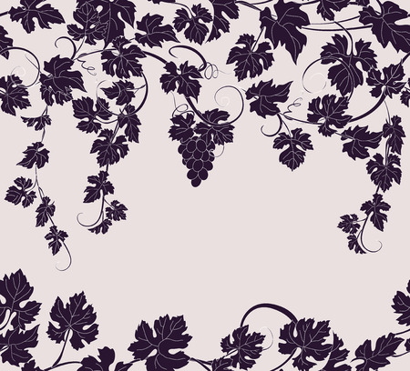 viticulture: Vector seamless pattern background with vines in vintage style.