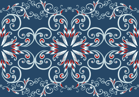 Seamless vintage borders. Traditional East style, ornamental floral elements. Иллюстрация