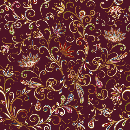 Seamless pattern in ethnic traditional style. Banque d'images - 121437500