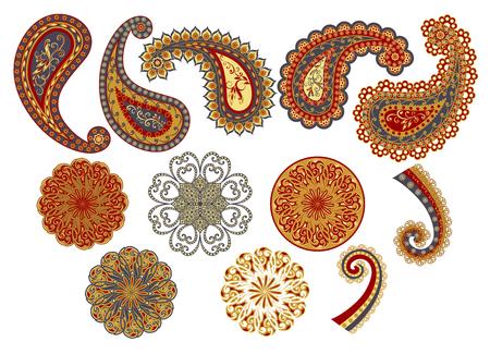 Vector decorative Paisley, mandala elements. Banque d'images - 121437526