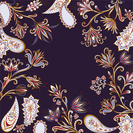 Background in ethnic traditional style. Stock Illustratie