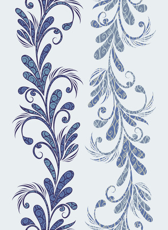 Seamless vintage borders. Traditional East style, ornamental floral elements. Banque d'images - 121437574
