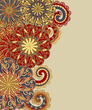 Background in ethnic traditional style. Ilustração