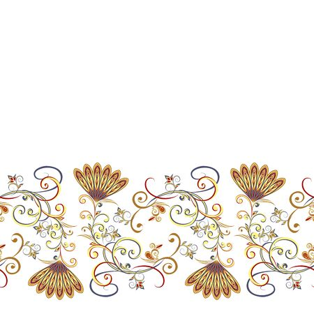Background in ethnic traditional style.