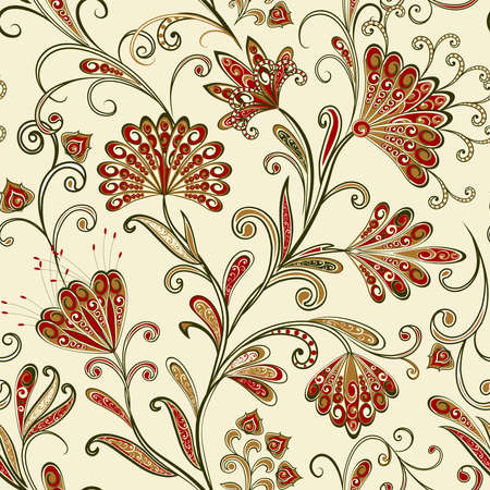Seamless vintage borders. Traditional East style, ornamental floral elements. Ornamental floral elements for design card, invitation, brochure, book, magazine.