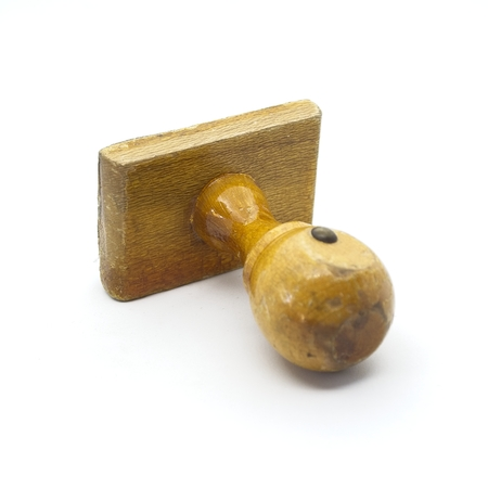 Shot to some wooden satamping tools Stock Photo