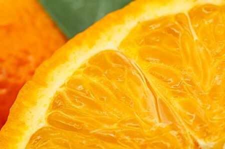 Fresh tangerines detail. Studio shot.