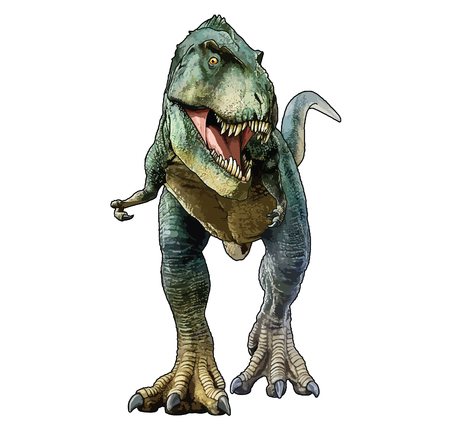 Vector cartoonish illustration of T-Rex