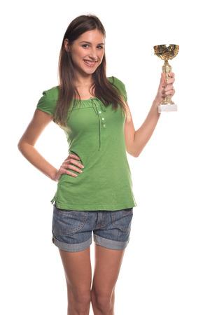 Meisje met beker Stockfoto
