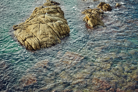 mar: Coast of Lloret de Mar Stock Photo