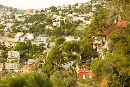 nice france: Residential quarters, Nice, France Stock Photo