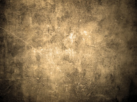 Old and grunge wall texture in sepia color. Can be used as background       Stock Photo