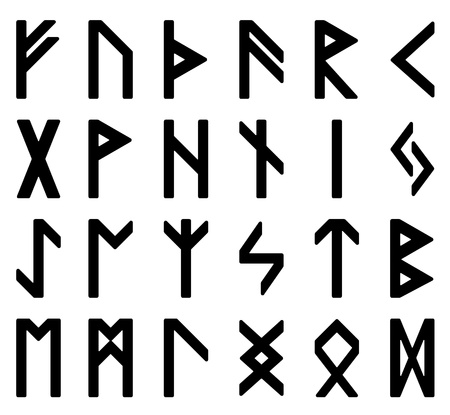 runes: symbols, magic runes, witchcraft signs Stock Photo