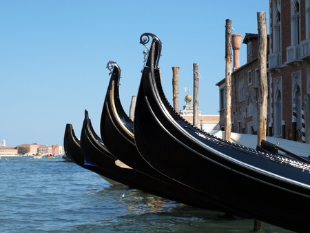 Picture of the Venice gondola near San Marco square     photo