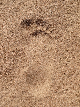 Footstep on the sand         photo