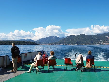 Peoples on the excursion along Garda lake, Italy. Photo taken near the Salo city  Stock Photo - 11215113