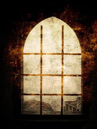 Old window Stock Photo - 11218474