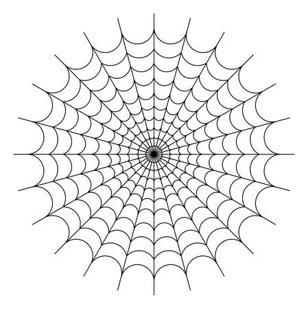 spider web background: Round spider web