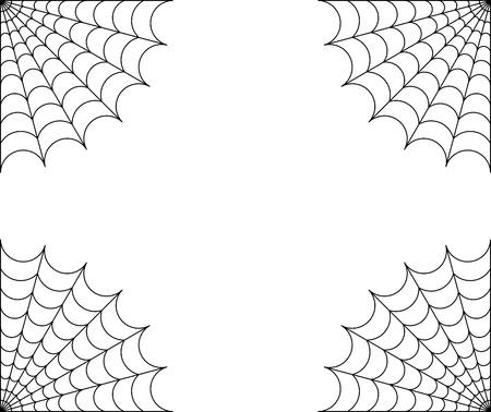 Spider web frame photo
