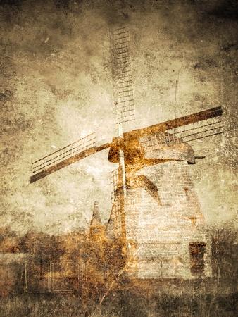 Windmill. Vintage postcard