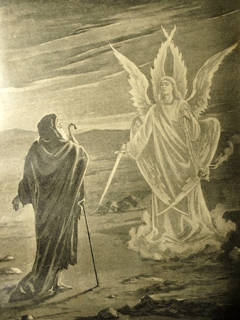 angel gabriel: Vintage illustration from the book Collected stories by A.S. Pushkin published in 18xx, Russia Editorial