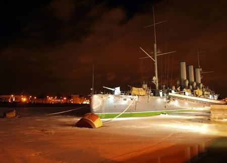 Famous cruiser Aurora- symbol of the Russian revolution in 1917
