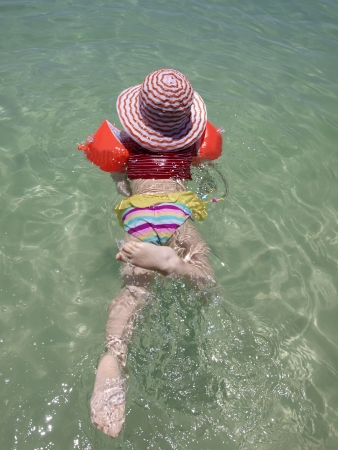 Swimming little child        photo
