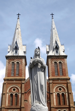 Notre Dam cathedral in Ho Chi Minh city, Vietnam      photo