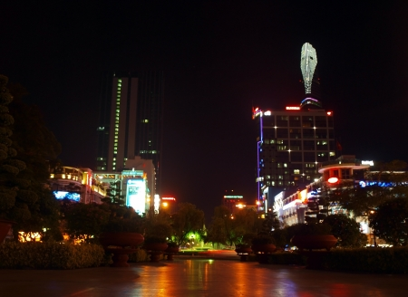 HO CHI MINH CITY - APRIL 11: The Bitexco Financial Tower is the tallest building in Vietnam, inaugurated in 30 october 2010. April 11, 2012 in Ho Chi Minh City