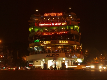 HANOI - APRIL 05: Biggest trade centre of old Hanoi in Vietnam, on April 05, 2012. Hanoi is the biggest city in Vietnam and most popular Vietnamese city for many tourists from all the world       Editorial