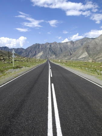 Empty road in the mountains Stock Photo - 15006803