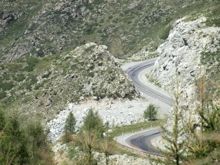 Danger mountain road Stock Photo - 15488422