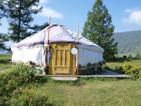 Traditional Altai yurt     photo