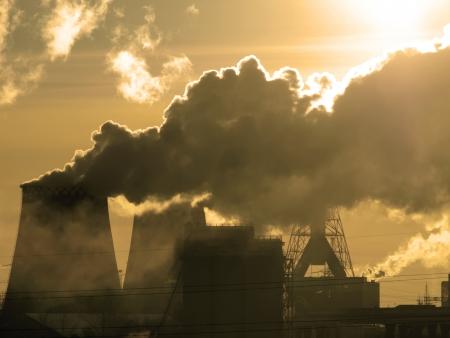 Air Peligro contaminación tono sepia