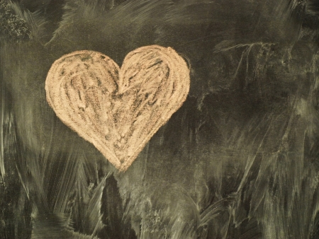 Heart on the classboard       photo
