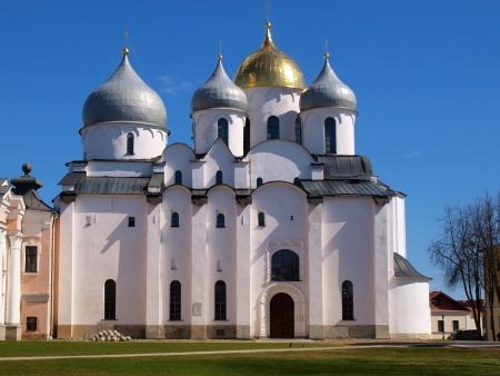 Inside the Novgorod Kremlin     Stock Photo