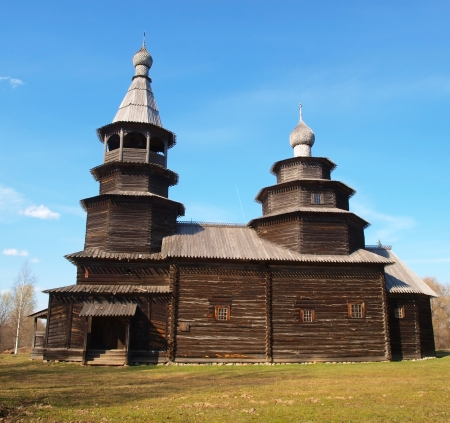 Wooden church in Novgorod the Great         photo