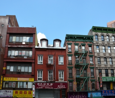 NEW YORK CITY - AUGUST 08  Chinatown district in NYC on August 08, 2013  It is the largest and oldest such enclave in the Western Hemisphere with nearly 100,000 residents