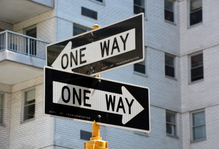 One way signs in NY