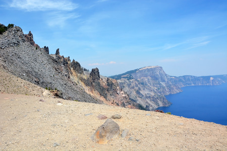 crater lake: Beautiful Crater lake in Oregon, USA