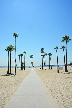 malibu: Long beach in California, USA