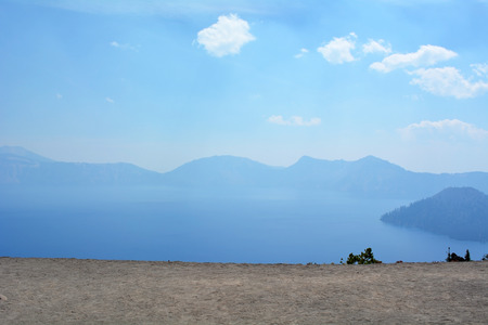 crater: Crater lake Stock Photo